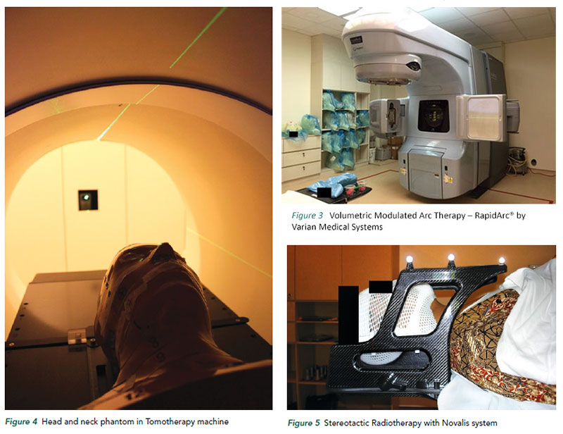Volumetric Modulated Arc Therapy, Tomotherapy and Stereostatic Radiotherapy at National Cancer Centre Singapore.