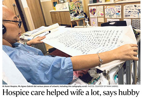 Hospice care helped wife a lot, says hubby