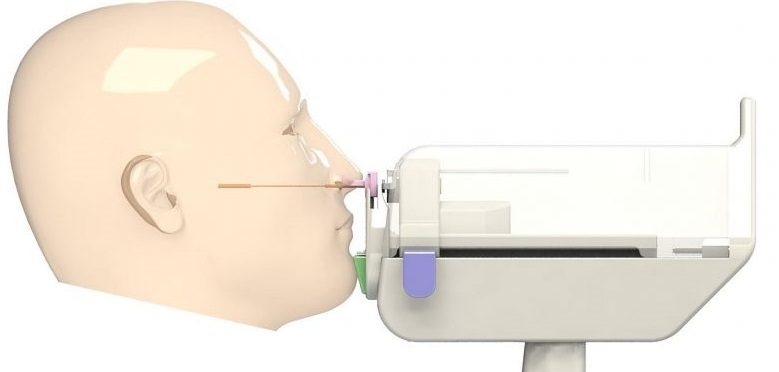 ​First fully patient controlled Nasal Swab Robot